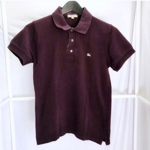 Burberry London Slim Fit Pique Polo Shirt Sz XS